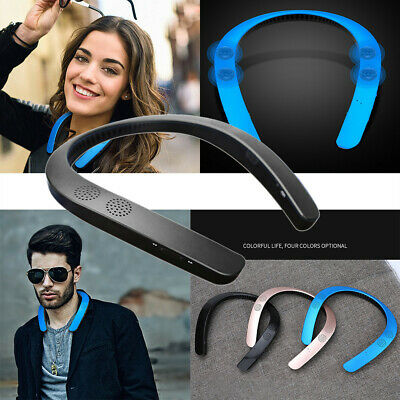 Bluetooth 5.0 Wireless Neckband Neck Speaker FM AUX SD USB Stereo For iPhone