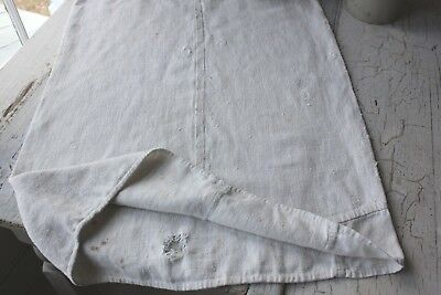 Antique//VTG French Fabric Lovely Pure Linen Handkerchiefs Purple /& White Textile