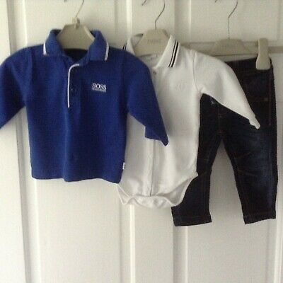 Hugo Boss Next Baby Boys Small Bundle / Outfits 3-6Mths Designer Tops Jeans