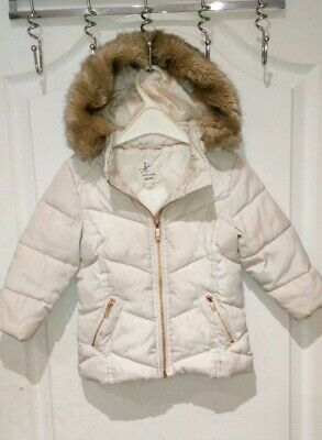 River Island Mini Baby Girls Beige Parka Coat Age 12-18 Months