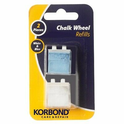 2x Packs of 2 Korbond Chalk Wheel Refills - Fabric Marker Sewing