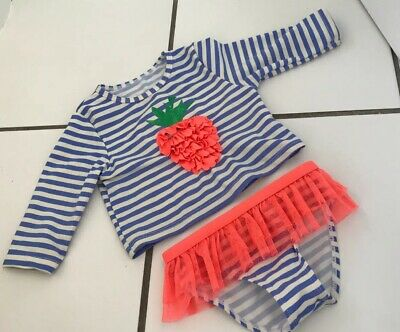 12-18 Months Baby Girls Two Piece UV Sunsuit