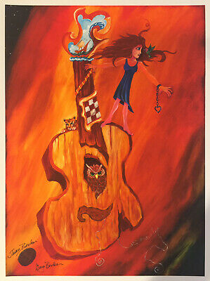 12x9 Inches SIGNED by Jason Becker and Gary Becker Art Print SAND CASTLE