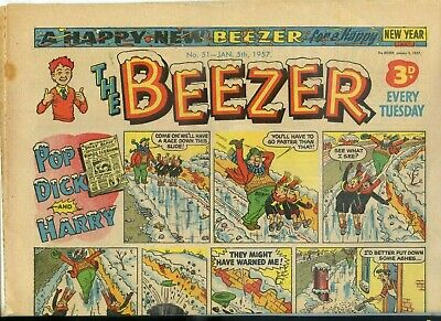 1957 The Beezer Comic ~ 5th January, 1957 ~ Number 51 (Cover: Pop, Dick & Harry)