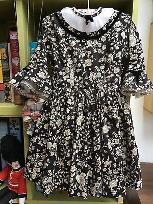 RARE 50s 60s VINTAGE LIBERTY OF LONDON TANA LAWN PARTY DRESS GIRL AGE 3 - 5
