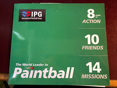 10 IPG paintball tickets redeemable in UK and Ireland with 1000 free paint ball