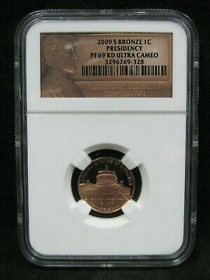 2009-S Bronze Proof Presidency Lincoln Cent - NGC PF 69 RD Ultra Cameo