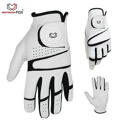WFX  White Best Mens Cabretta Leather Golf Gloves Multi sizes All Weather