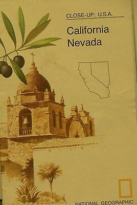Vintage 1974 National Geographic Map of California Nevada