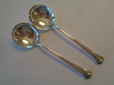 Towle Chippendale - 2 Cream Soup Round Bowl Spoons Sterling Silver 6 1/2""