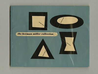 1950 George Nelson HERMAN MILLER COLLECTION Furniture Catalog w/ Jacket & Box