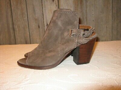 f485597479e Frye Dani Shield Sling Suede Sandals Women s Size 7.5 M Dark Taupe 3471228