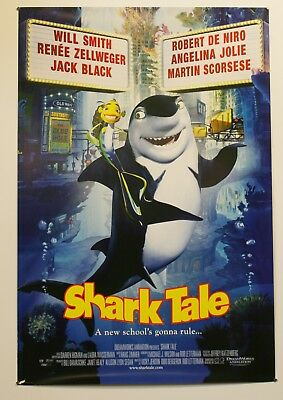 Shark Tale - 2004 Movie Poster 27X40 - Caroon Art *Buy 1 Poster Get 1 Free*