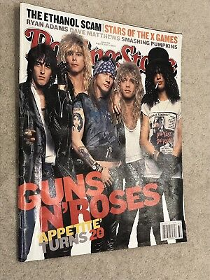 **Guns N'roses Ryan Adams Dave Matthews Us Rolling Stone Magazine August 2007**