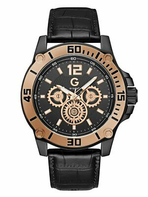 b68c85ba2 G BY GUESS Men's Black and Rose Gold-Tone Sport Watch - $94.99 ...