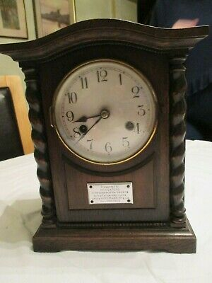 Vintage British Made Wooden Mantle Clock - 1923- Hoffmans- wedding-Mr capers