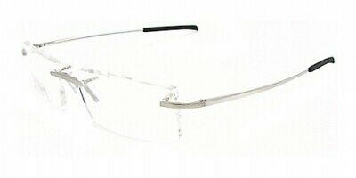 b2f633e0308ea New TAG Heuer 4104 4109 002 Silver Eyeglasses Rimless Frame 52-16 Authentic