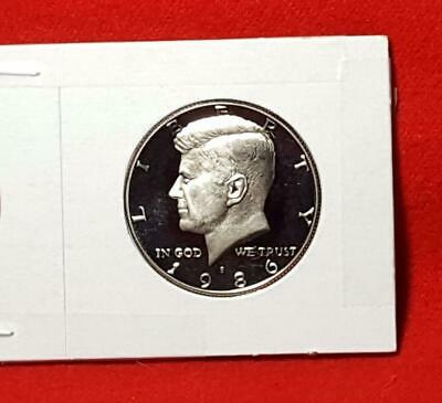 "1986-S Mint ""Ultra Deep"" Cameo Kennedy Half Dollar Proof Free Shipping!"