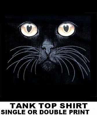 Beautiful Cat Art Cats Eyes With Nose & Whiskers Kitten Face Tank Top Shirt W764
