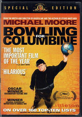 BOWLING FOR COLUMBINE The DOCUMENTARY MOVIE a DVD of SCHOOL Shooting GUN CONTROL