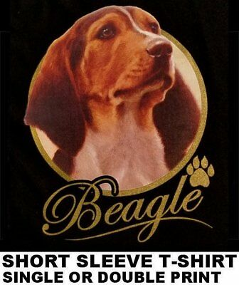 Very Classy Cool Beagle Dog Art With Gold Lettering Dog T-Shirt Xt713