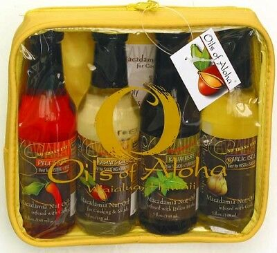Oils Of Aloha Macadamia Nut Cooking & Salad Oil 4 / 5 Oz Set