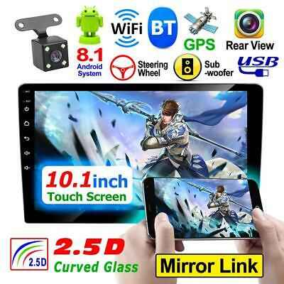 """10.1"""" 2Din Quad Core Android 8.1 GPS Navi WiFi Car Stereo MP5 Player AM/FM Radio"""