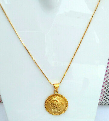 02ea967910b Indian 22K GoldPlated Chain Necklace With Pendant 22