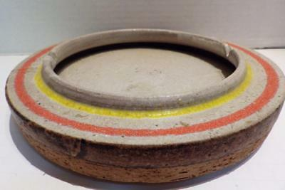Large Vintage Mid Century Modern Lava Ceramic Ashtray Cigar Cigarette