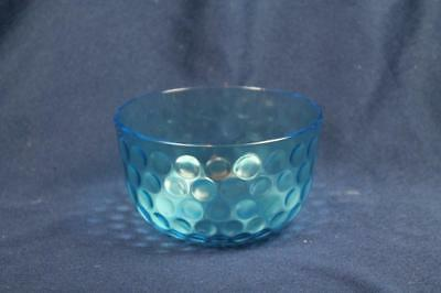 "BLUE INVERTED THUMBPRINT SUGAR DISH INSERT 4-1/2""For Silver Plate Frame"