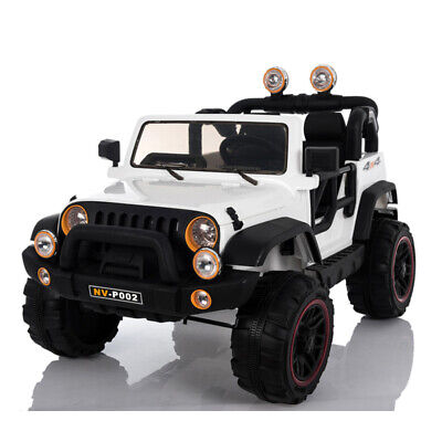 Jeep Style Electric Ride On Car 12V 2 Seats 2.4G Remote Control White