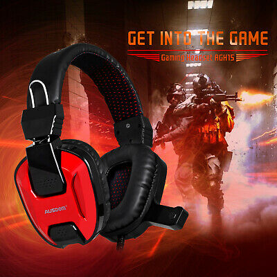 AUSDOM Stereo Bass Surround Gaming Headset for PS4 New Xbox One PC with Mic