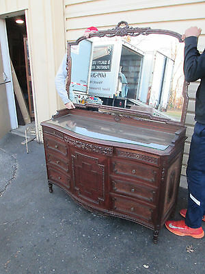 56530 Antique Dresser with Mirror  QUALITY  FRIEDMAN GALLERIES