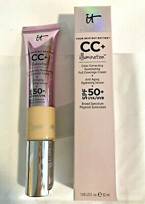 IT Cosmetics CC+ ILLUMINATION SPF Coverage Cream Serum Foundation LIGHT MEDIUM