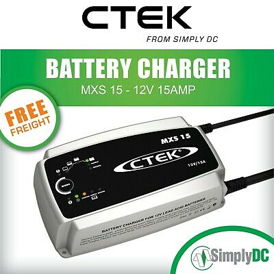 NEW CTEK MXS 15 BATTERY CHARGER Boat Marine Car Battery Charger 15 AMP AGM SLA