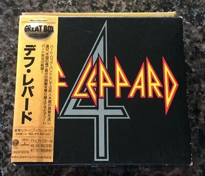 DEF LEPPARD 1991 JAPAN only 4 CD box set booklet & obi LIMITED EDITION Great Box