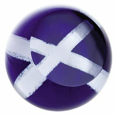 Caithness Glass Abstract Scottish Saltire Flag Paperweight