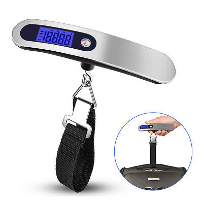 Travel 110lb /50kg  Portable LCD Digital Hanging Luggage Scale Electronic Weight