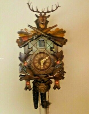 Black forest one day cuckoo clock...serviced and restored...