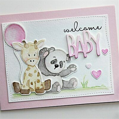 Baby Animals Clear Stamps and Cutting Dies Scrapbooking For Card Making