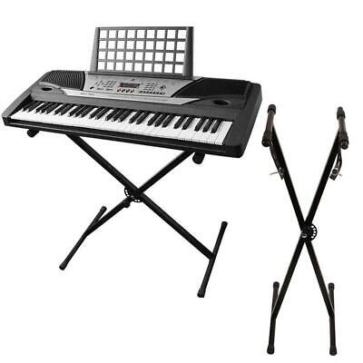 Iron Braced Keyboard Stand Electric Piano Stand X-Type Black