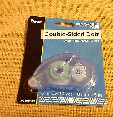 LOT#j NEW DARICE DOUBLE SIDED DOTS REMOVABLE TAPE  SCRAPBOOK CARDMAKERS TEACHERS