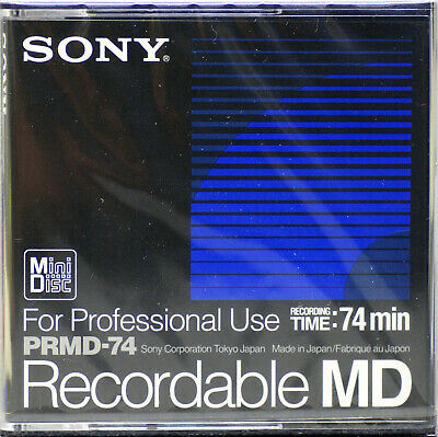 SONY PRMD-74 Pro Blank Recordable Minidisc  New & Sealed  BECOMING RARE