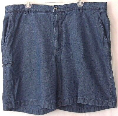 "Boca Classics Chambray Blue Jean-look Flat Front 9"" inseam Shorts Men's Size 42"