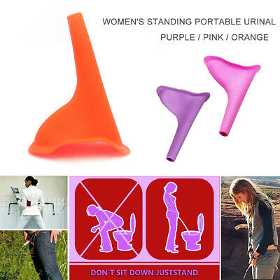 Portable Outdoor Travel Camping Women Stand up Pee Soft Silicone Urinal Funnel