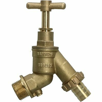"""Large 3/4"""" High Flow Outside Garden Tap with Double Check Valve 3/4"""""""