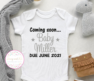 Personalised Baby Vest Bodysuit, Embroidered Clothes, Boy Girl Unisex Gift