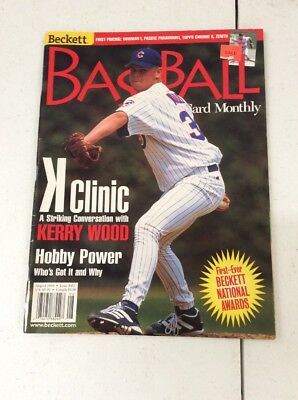 Beckett Baseball Card Monthly magazine Price Guide Kerry Wood August 1998
