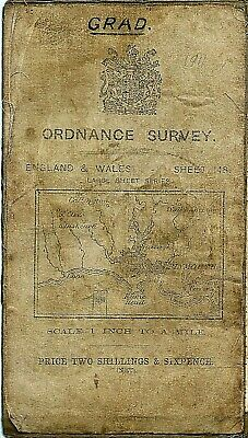 Ordnance Survey Map 148 PLYMOUTH - Cloth 1911
