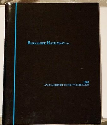 Berkshire Hathaway annual report 1988 (and Proxy Statement) - Rare Combination